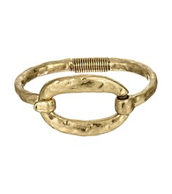 The Sak® Goldtone Organic Oval Spring Bracelet