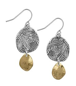 The Sak® Two-Tone Batik Double Drop Earrings