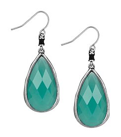 The Sak® Silvertone Elongated Faceted Drop Earrings
