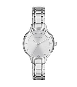 Skagen Denmark Womens Anita Watch In Silvertone With Metal Link Bracelet