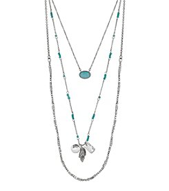 Lucky Brand® Silvertone Lucky Layer Shell Necklace