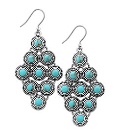Lucky Brand® Silvertone Turquoise Kite Drop Earrings