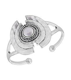 Lucky Brand® Silvertone Cultured Freshwater Pearl Cuff Bracelet