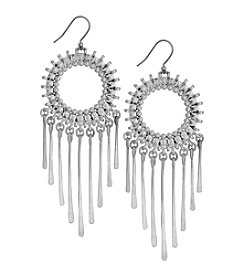 Lucky Brand® Silvertone Circle Statement Earrings