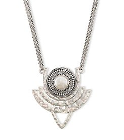 Lucky Brand® Silvertone Cultured Freshwater Pearl Pendant Necklace