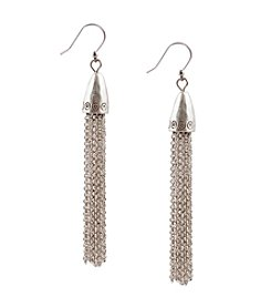 Lucky Brand® Silvertone Dangle Earrings