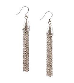 Lucky Brand® Silvertone Dangle Earrings