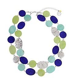 Erica Lyons® Silvertone Devil In A Blue Dress Double Strand Necklace