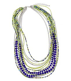 Erica Lyons® Silvertone Devil In A Blue Dress Multi Row Necklace