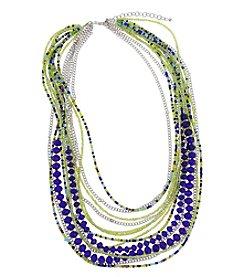 Erica Lyons® Silvertone Devil In A Blue Dress Multi Row Necklace