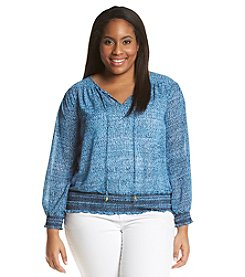 MICHAEL Michael Kors Plus Size Sunari Smocked Top