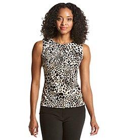 Calvin Klein Petites' Leopard Pleat Neck Cami