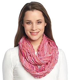 Collection 18 Chevron Pleat Slub Loop Scarf