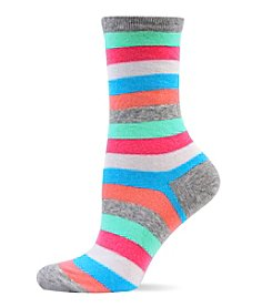Hot Sox Stripe Crew Socks
