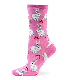 Hot Sox® Bunnies Crew Socks
