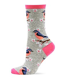 Hot Sox® Blue Birds Crew Socks