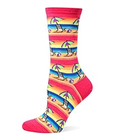 Hot Sox Beach Umbrella Crew Socks