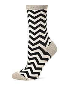 Hot Sox Chevron Crew Socks