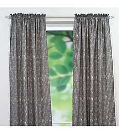Chooty® Amba Grey Dossett Rod Pocket Window Curtain