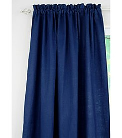 Chooty® Circa Solid Navy Rod Pocket Window Curtain