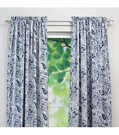 Chooty® Paisley Blue Rod Pocket Window Curtain