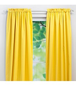Chooty® Solid Corn Yellow Rod Pocket Window Curtain