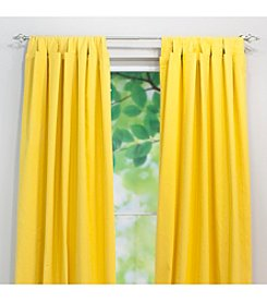Chooty® Solid Corn Yellow Tab Top Window Curtain