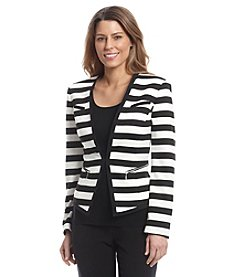 Nine West® Stripe Ponte Cutaway Jacket