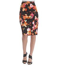 Robert Rodriguez® Floral Scuba Skirt