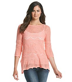 Jeanne Pierre® Crochet Sharkbite Top