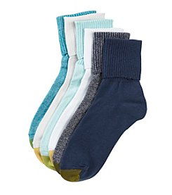 GOLD TOE® 6 Pack Turn Cuff Socks