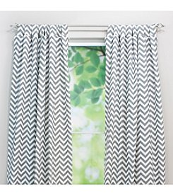 Chooty® Zig Zag Tab Top Window Curtain