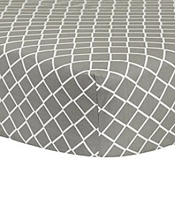 Trend Lab Grey Diamond Crib Sheet
