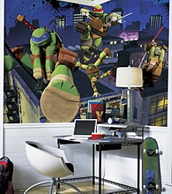 RoomMates Wall Decals Teenage Mutant Ninja Turtles Cityscape Prepasted Mural