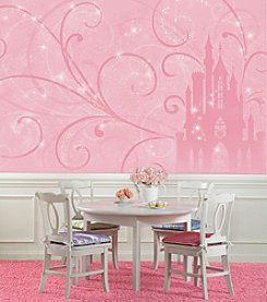 RoomMates Wall Decals Princess Scroll Castle Prepasted Mural