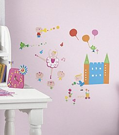 RoomMates Wall Decals Lazoo Girl Peel & Stick Wall Decals