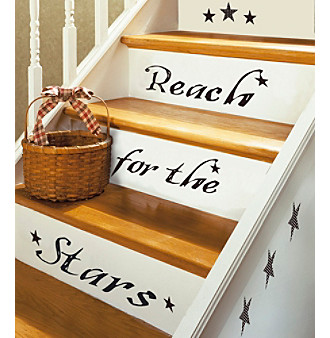 """RoomMates """"Reach For The Stars"""" P & S Wall Decals"""