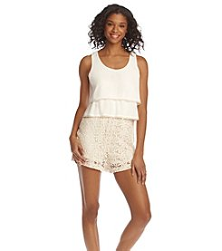 Sequin Hearts® Crochet Romper