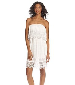 Sequin Hearts® Crochet Trim Dress