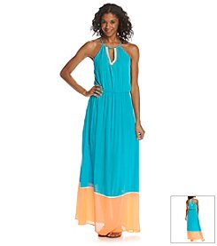 Sequin Hearts® Colorblock Maxi Dress