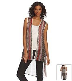Hippie Laundry Geo Print Duster Vest