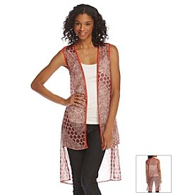 Hippie Laundry Abstract Print Duster Vest