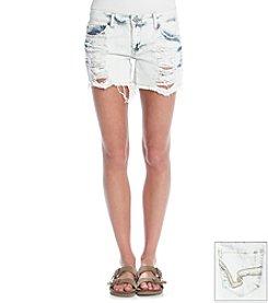 Hippie Laundry Acid Wash Destructed Jean Shorts