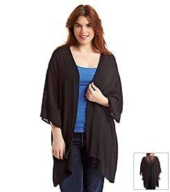 H.I.P. Plus Size Woven Lace Jacket