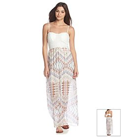 Trixxi® Printed Crochet Dress