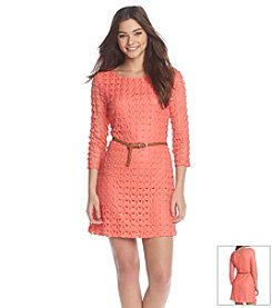 As U Wish® Crochet Belted Dress