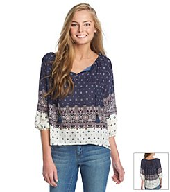 Jolt® Circle Peasant Top