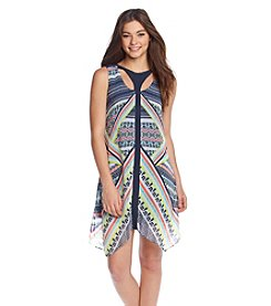 Sequin Hearts® Abstract Print Shift Dress