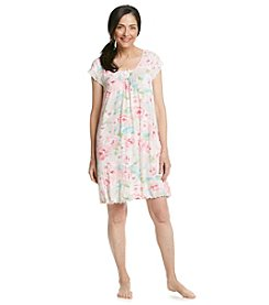 Miss Elaine® Pink Floral Nightgown
