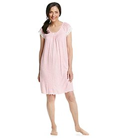 Miss Elaine® Pink Animal Print Nightgown